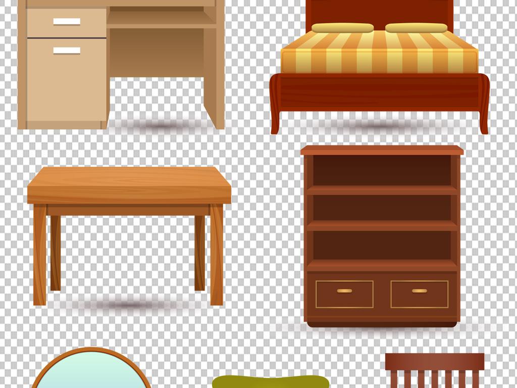 沙发欧式沙发中式家具古典床立柜png图片