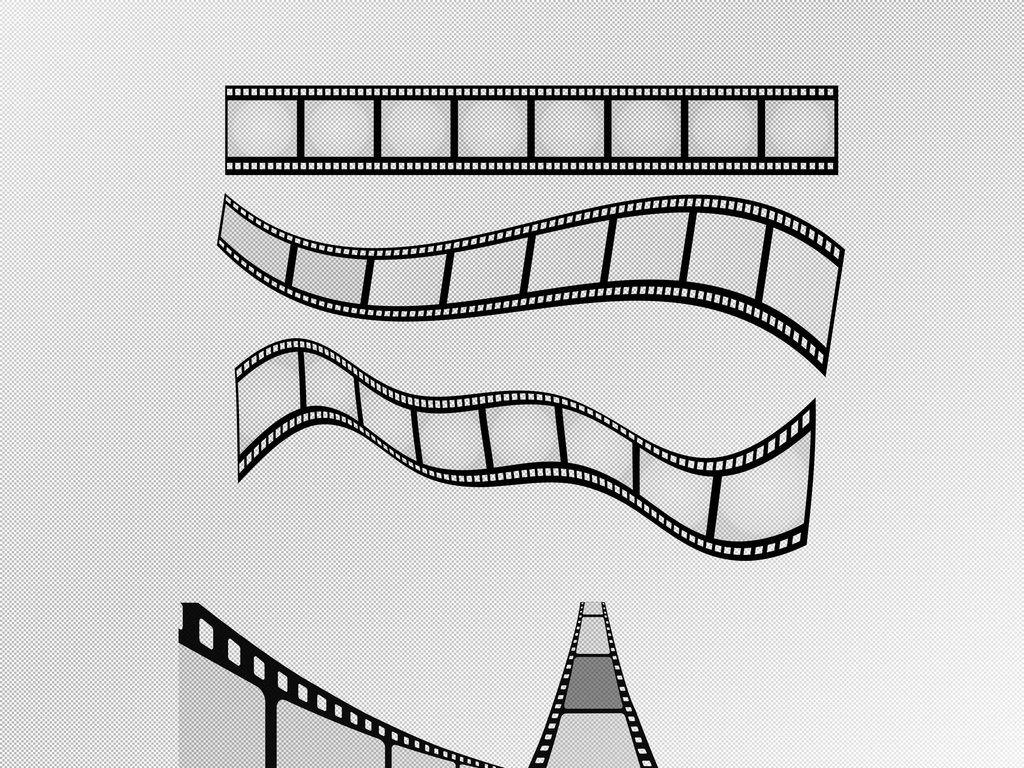 电影胶片矢量素材黑胶素材胶卷
