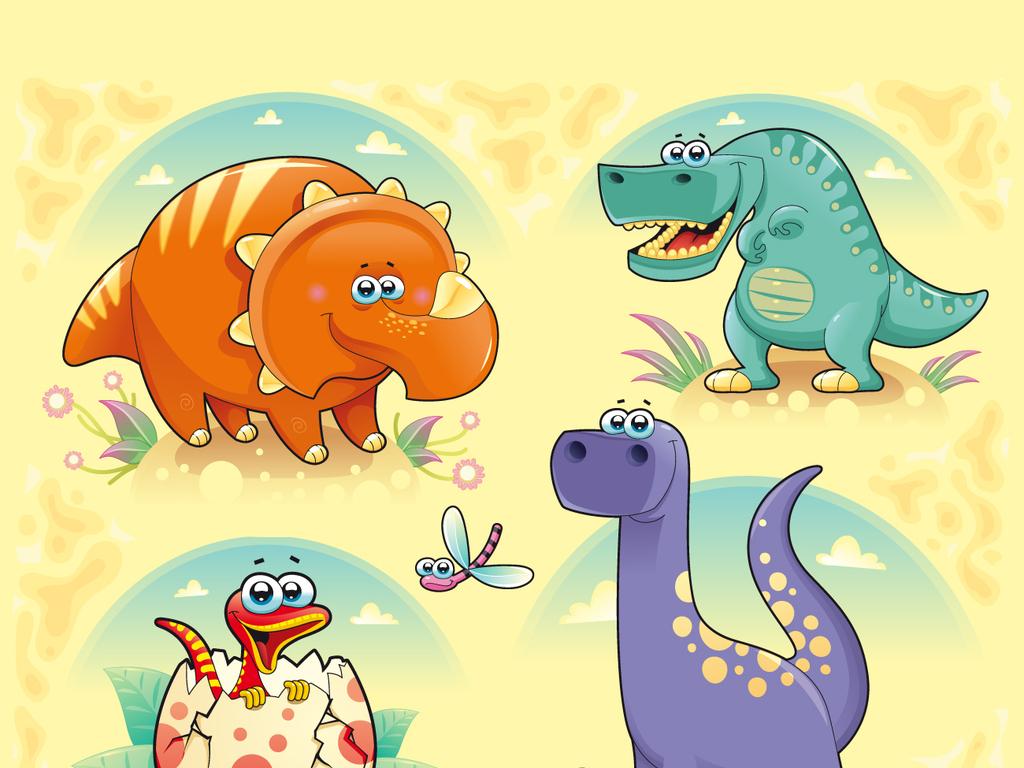 侏罗纪世纪手绘恐龙