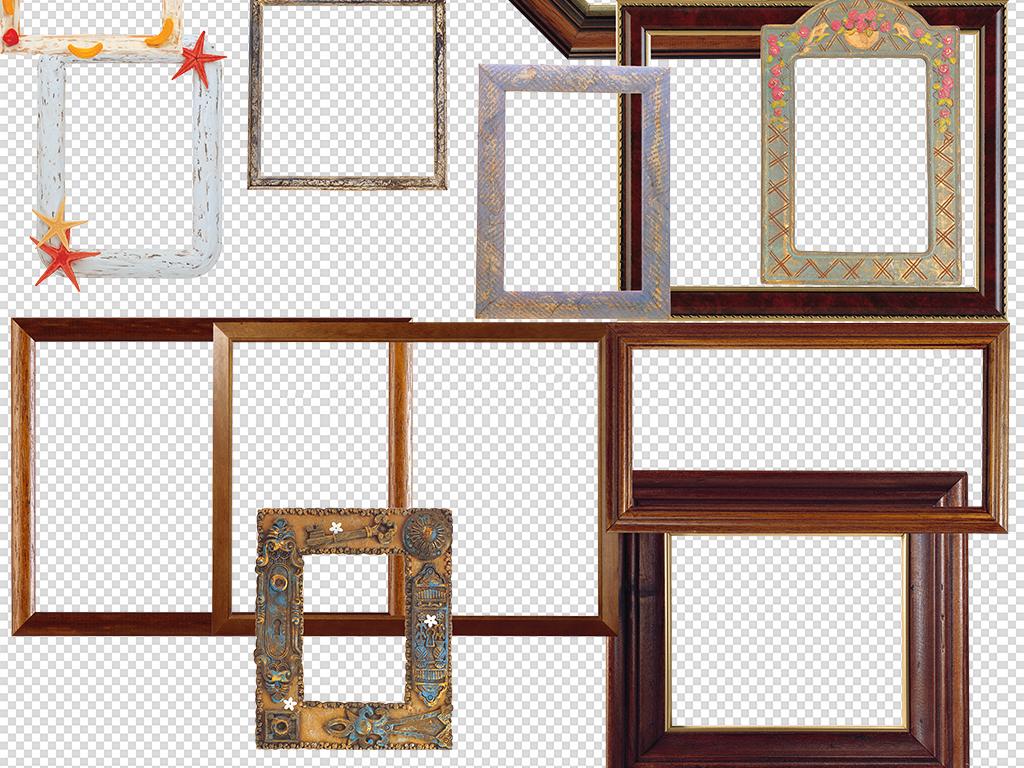 相框边框画框背景装饰海报png素材