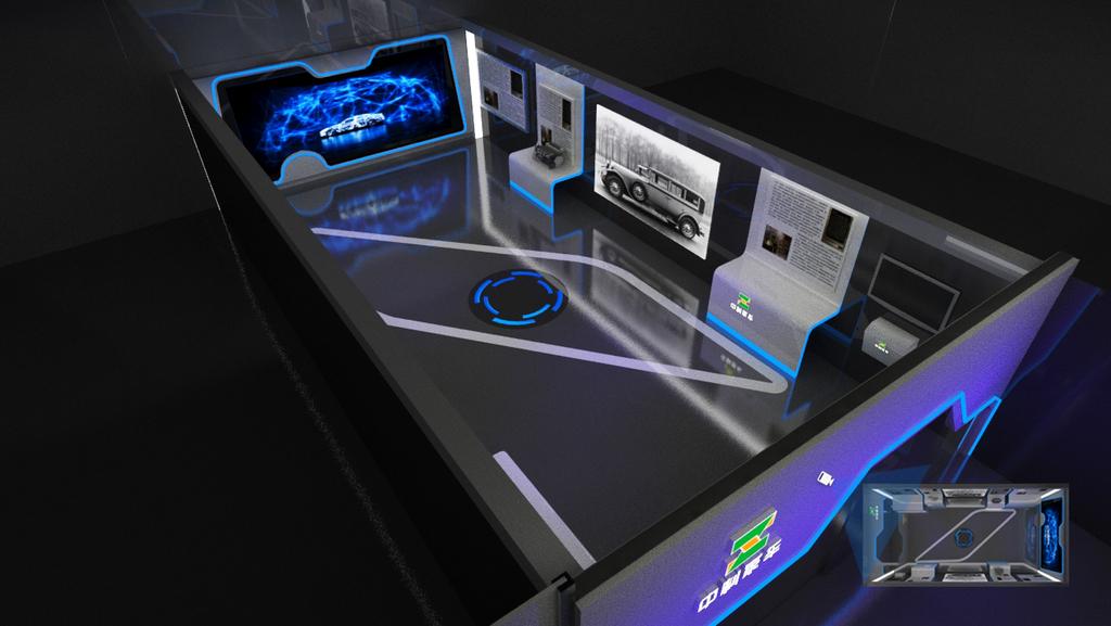 电子电路板                                  蓝色展厅