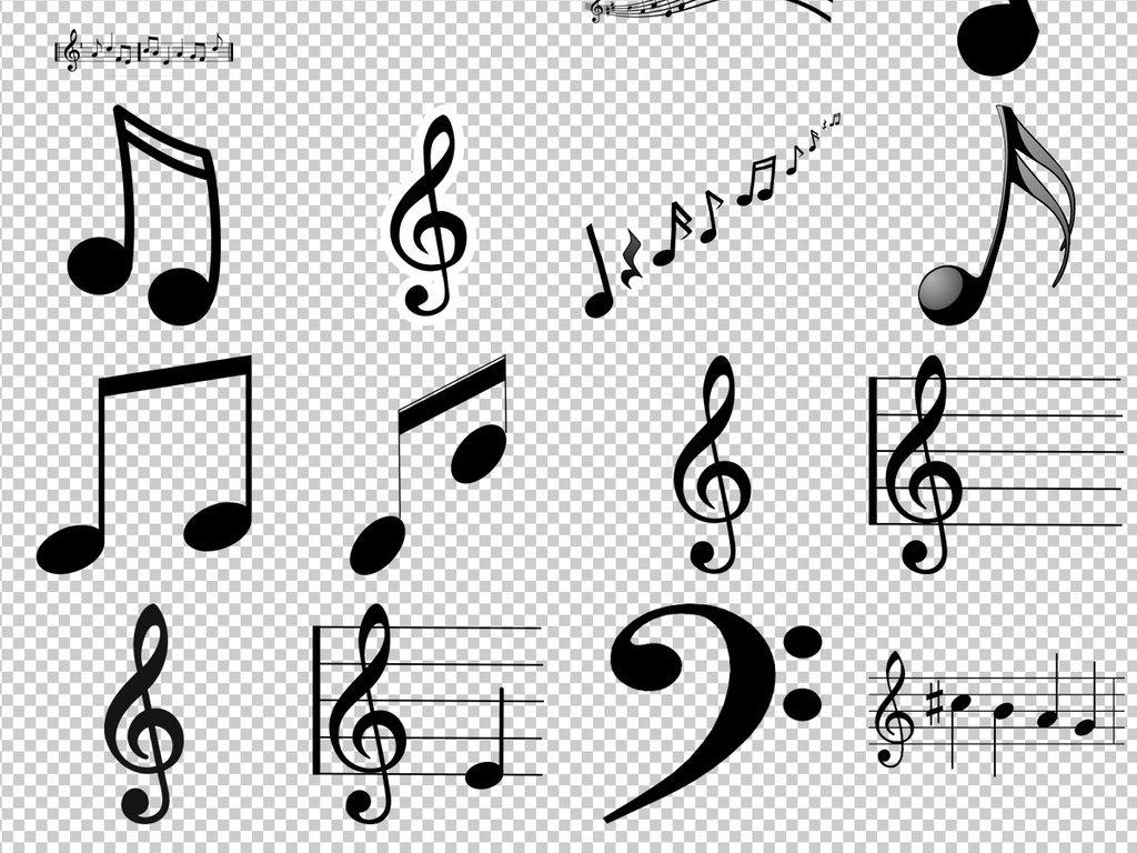 音乐标志符号手绘音乐符号音乐
