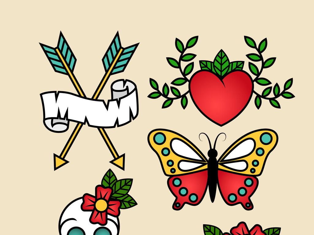 卡通矢量蝴蝶