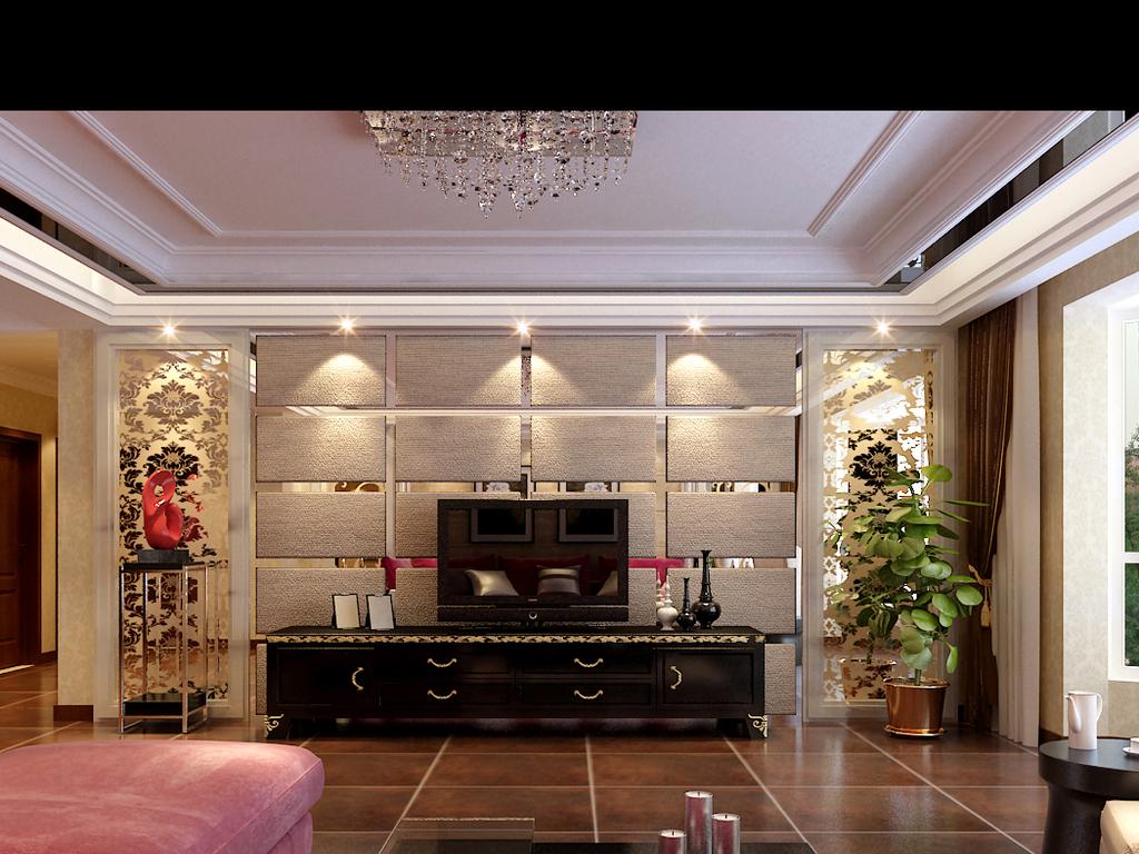 时尚简洁欧式客厅5103图片
