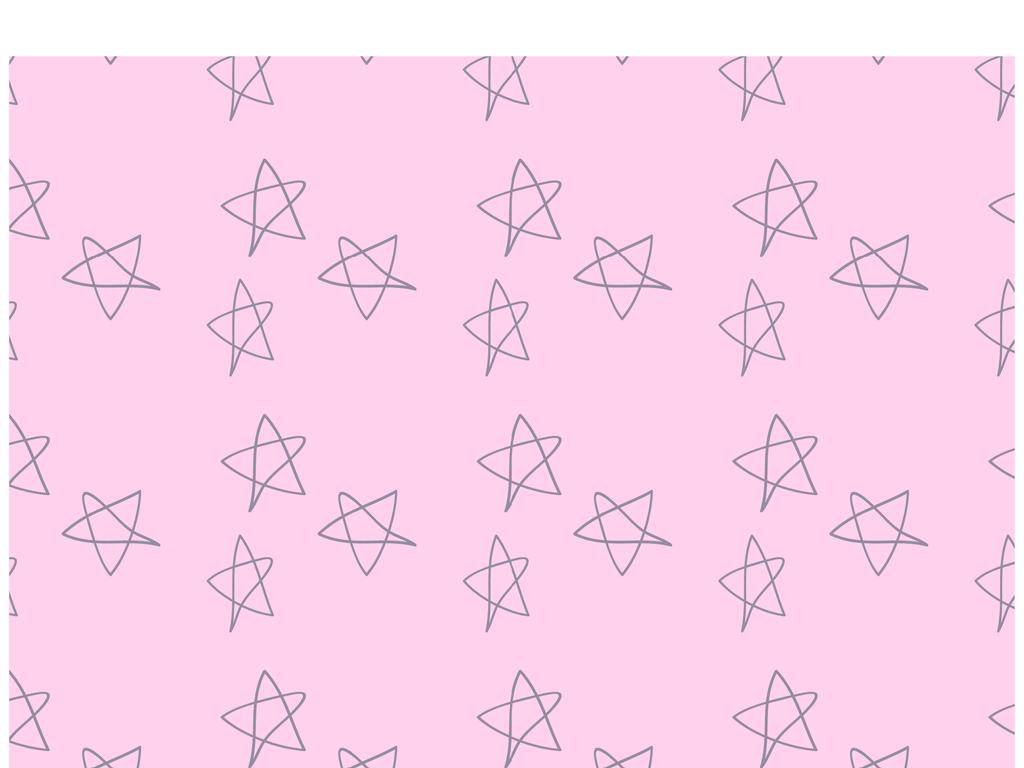 小清新印花星星图案手绘五角星印花