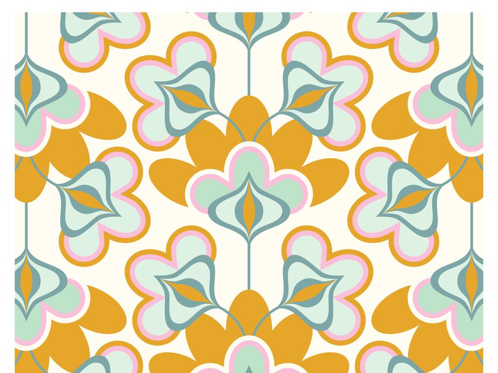 设计 服装/配饰印花图案 植物花卉图案 > 循环复古欧式花纹底纹ai矢量
