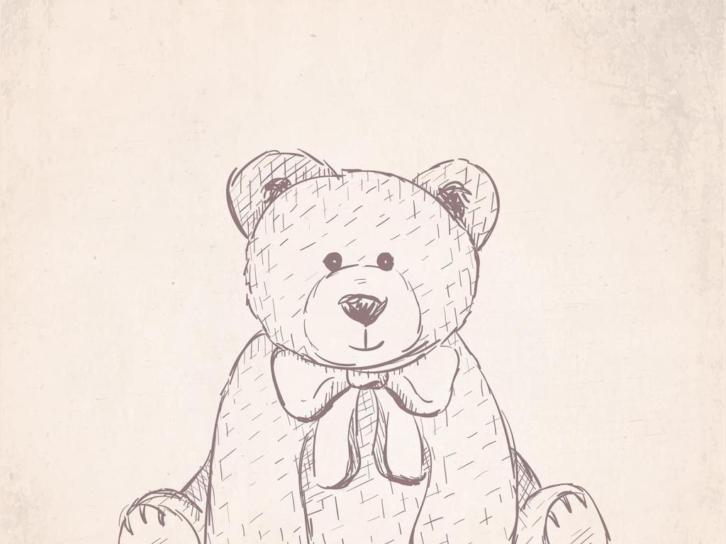 1卡通可爱小熊