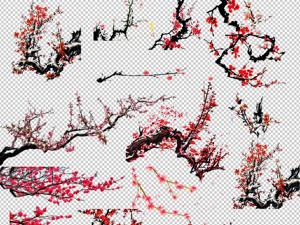psd)梅花png素材手绘梅花素材梅花透明素材免扣素材png素材梅花