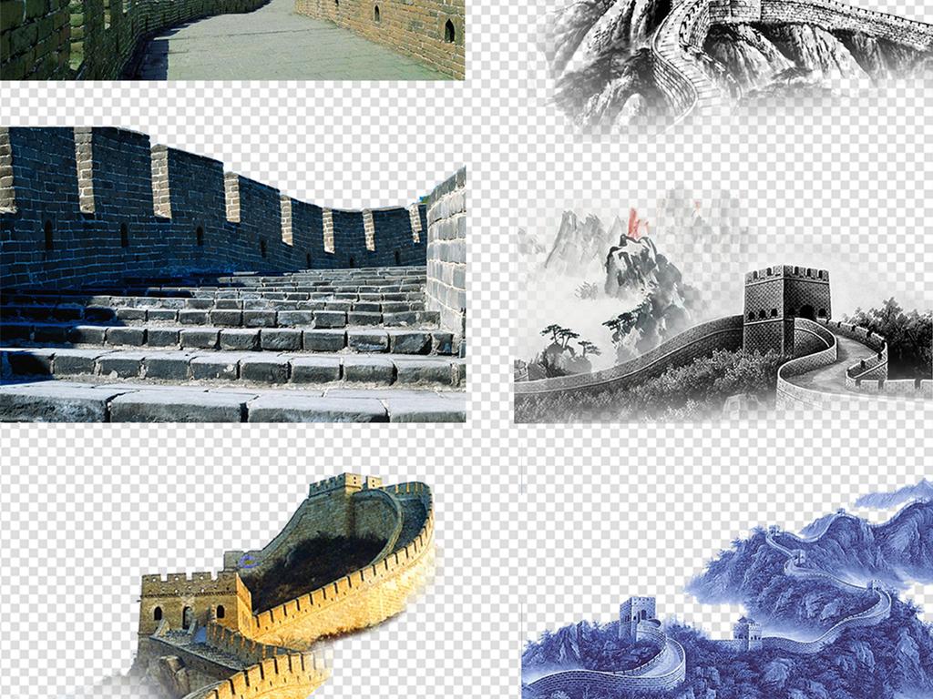 40多款北京长城旅游景点png海报素材