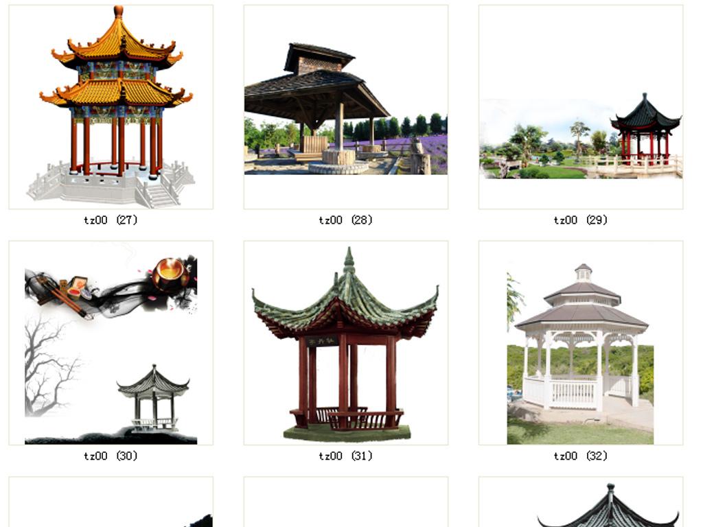 中式亭子中式建筑