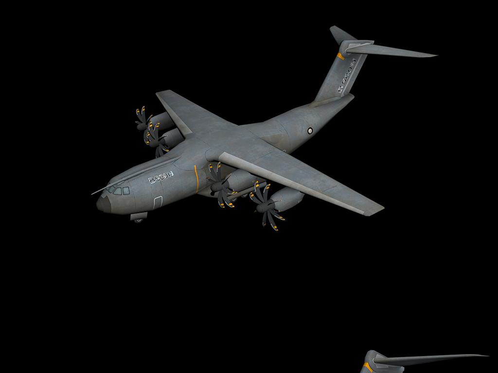 设计作品简介: a400m军用运输机3d模型,,使用软件为 3dmax 2012(.