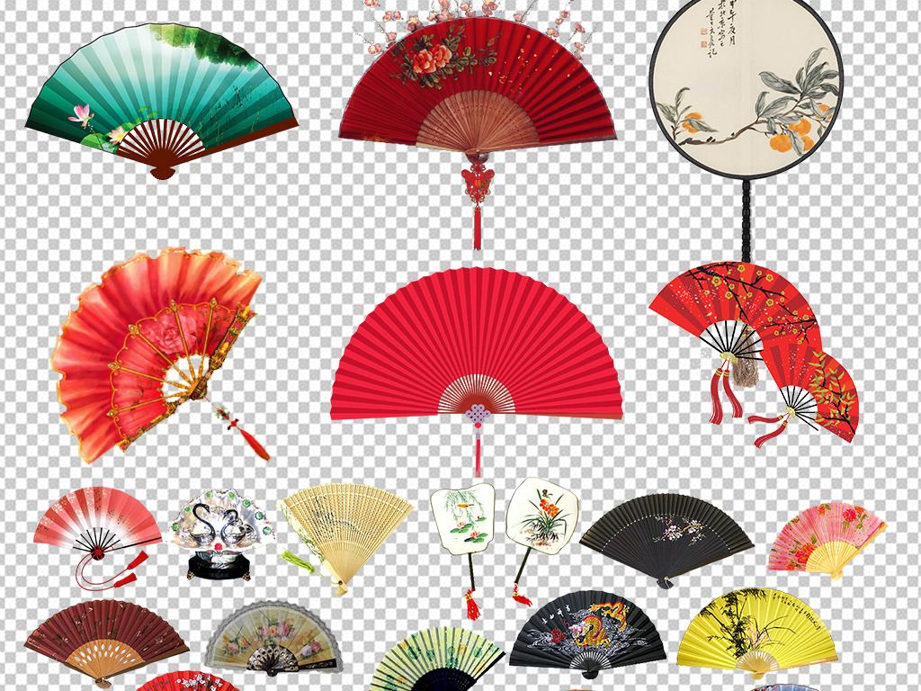 手绘装饰图案广告设计设计元素ps海报素材中国风扇子素材扇子中国素材