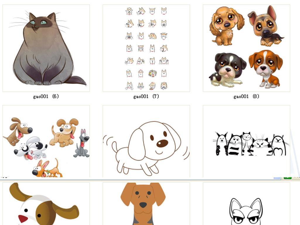 小动物卡通图片卡通动物动物动物卡通卡通猫咪宠物小狗