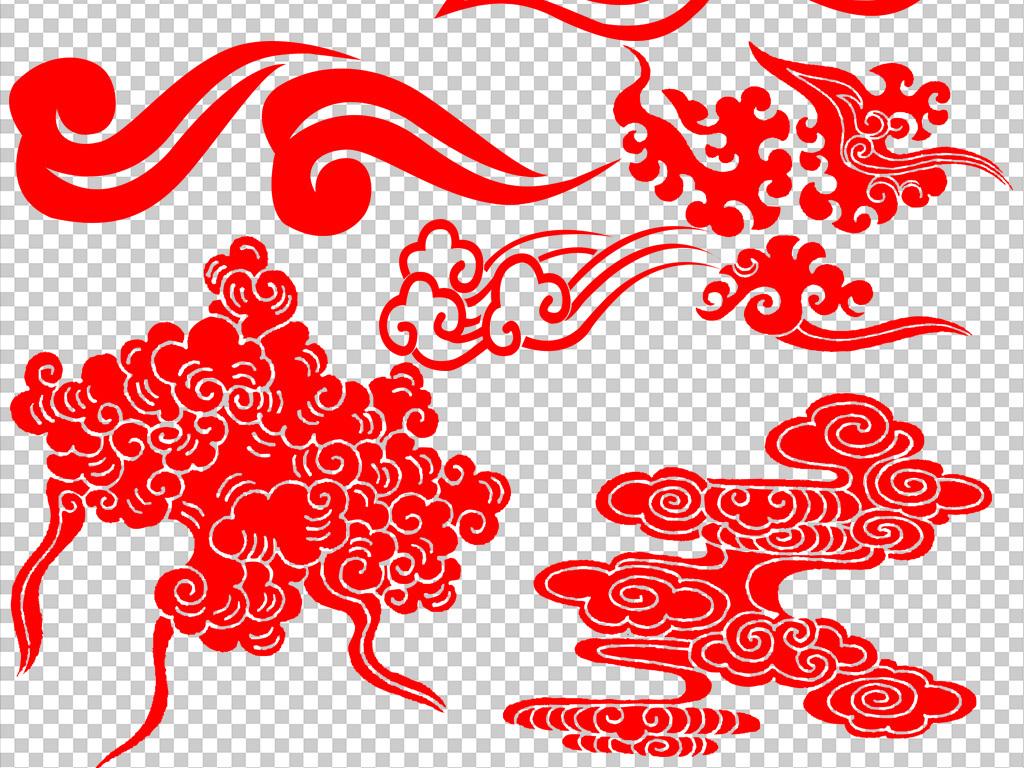 古风祥云中式边框条纹中国风png素材