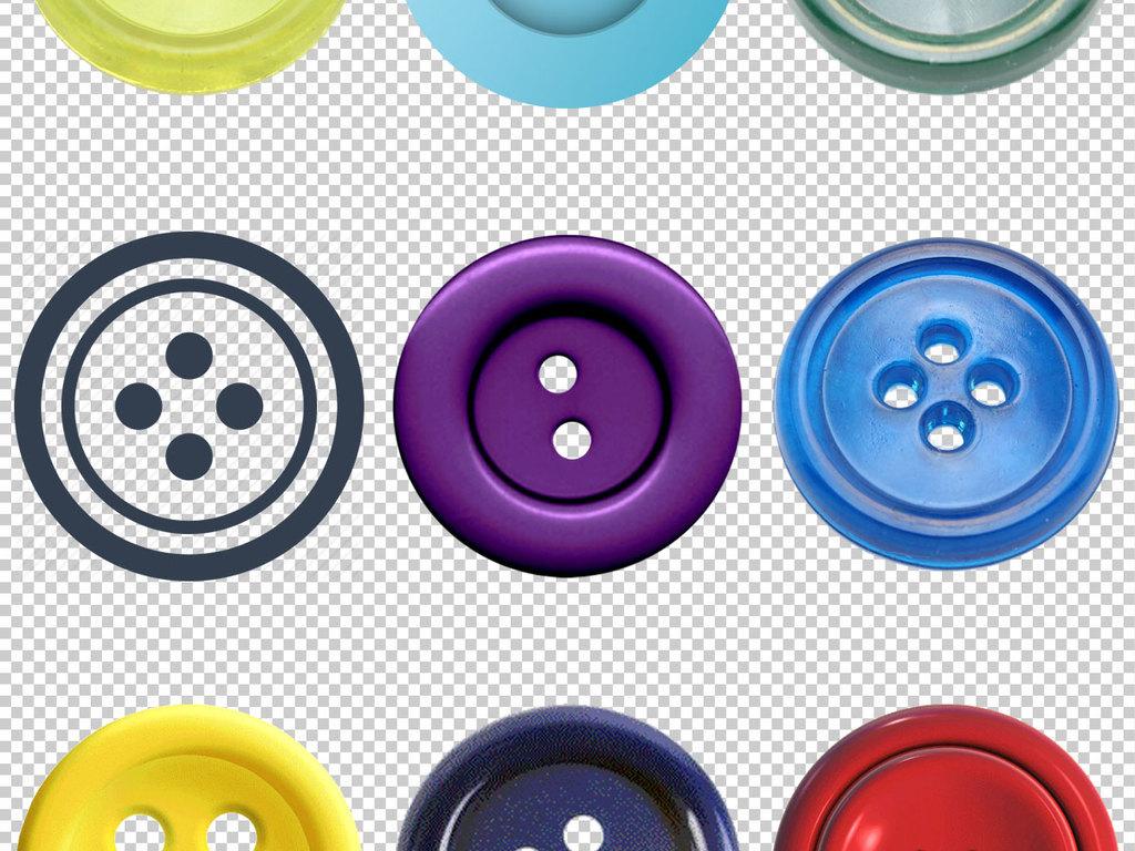 紫色高贵纽扣手绘