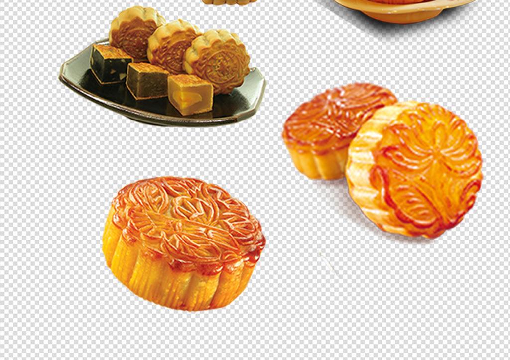 中秋节月饼素材png合集