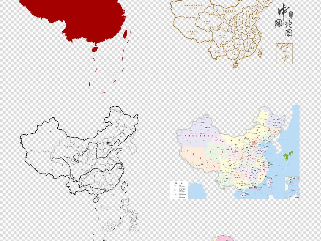 矢量中国地图中国地图轮廓中国地图矢量图3d中国地图中国地图全图高清
