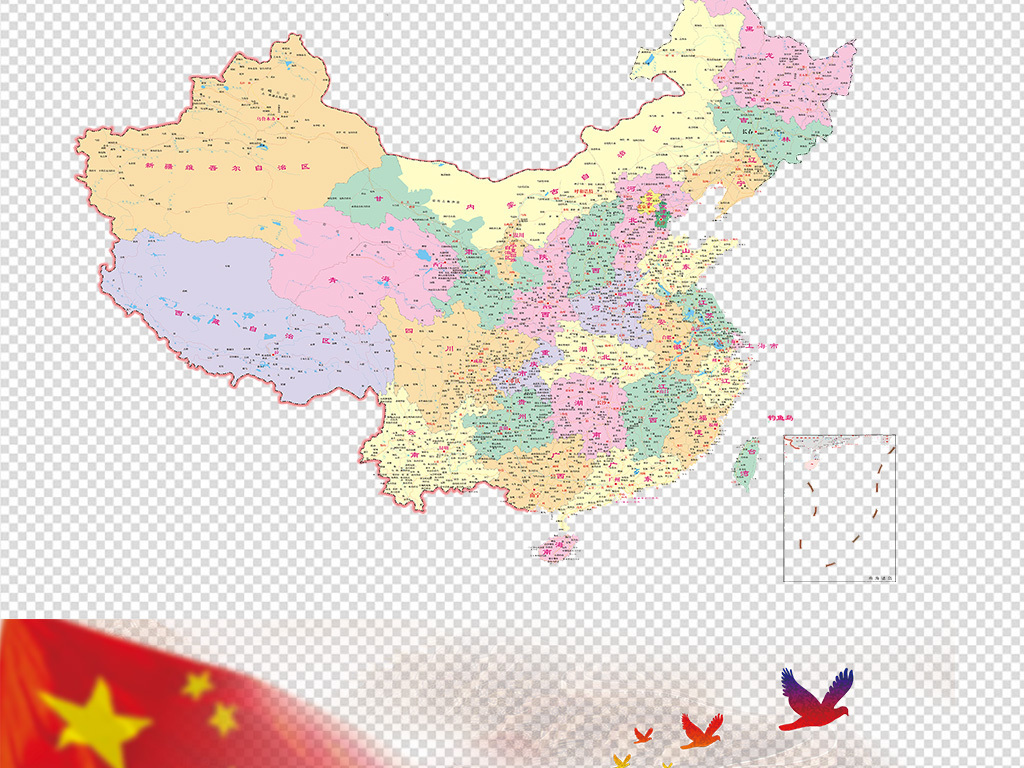 中国地图png透明背景素材