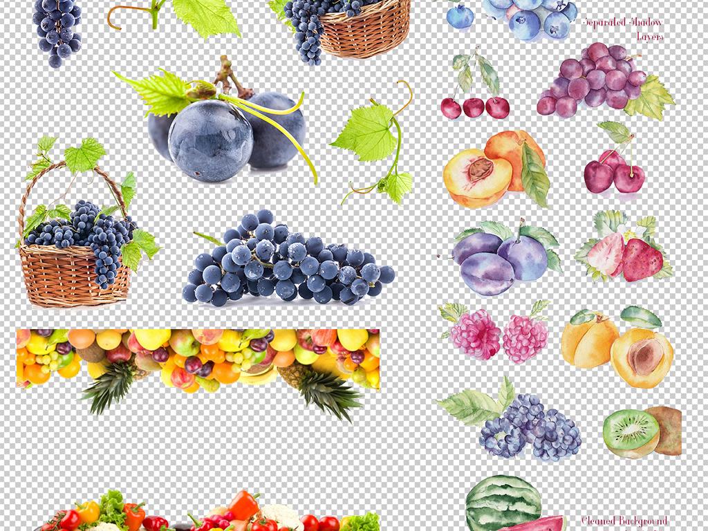 蔬果手绘食物图片食物卡通水果图案图标健康