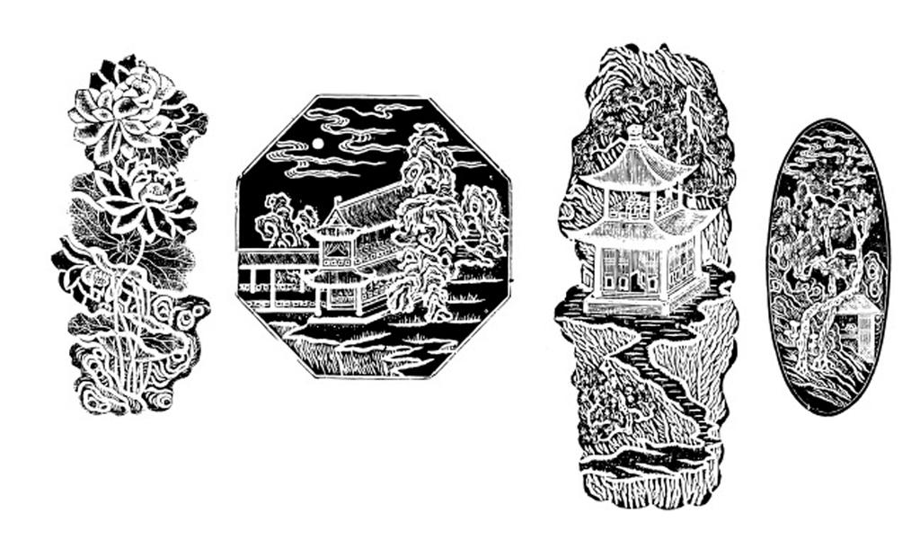 中国风传统元素清代雕刻花纹图案