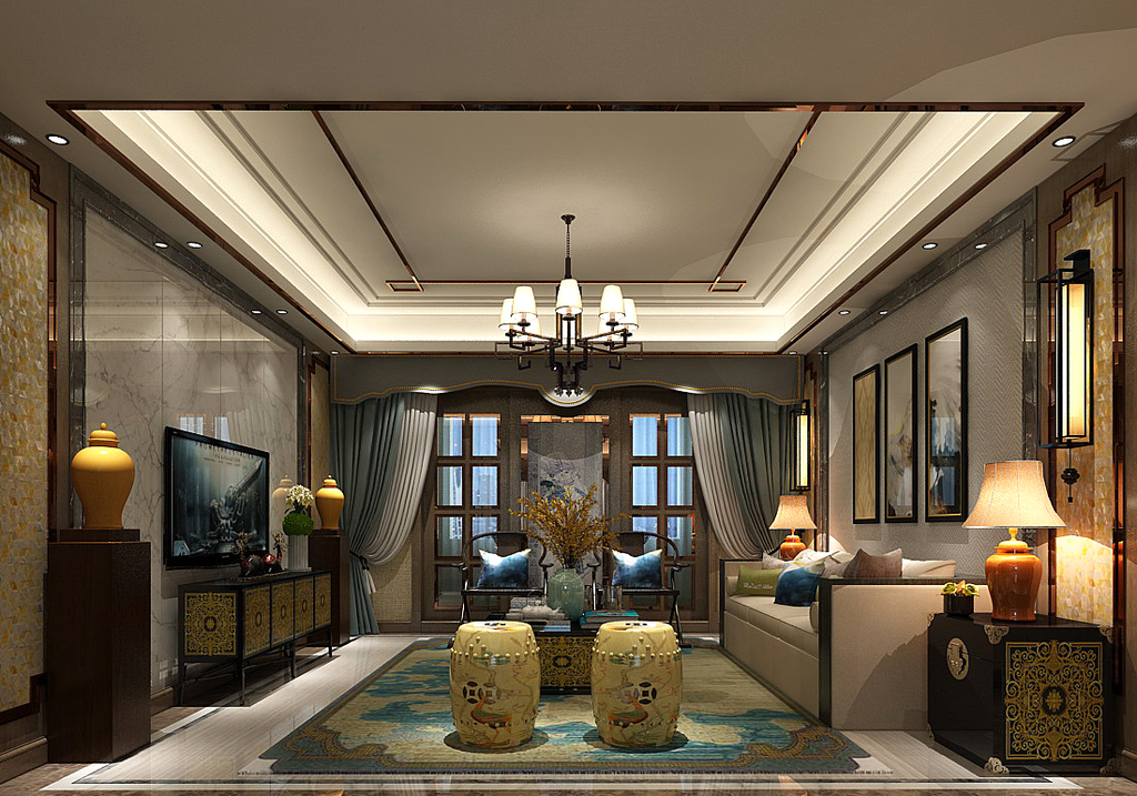 max)时尚简洁豪华现代中式欧式客厅餐厅卧室厨房厕所卫浴走廊儿童房图片