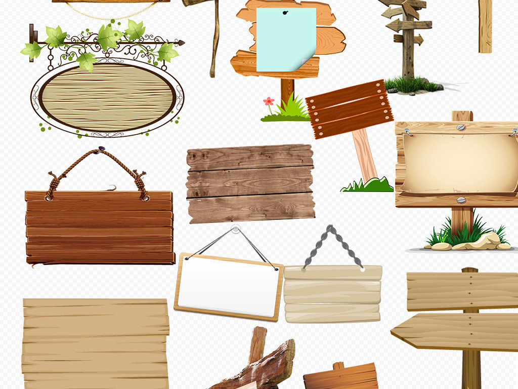 白色复古木板地板材质纹理指示牌台子素材