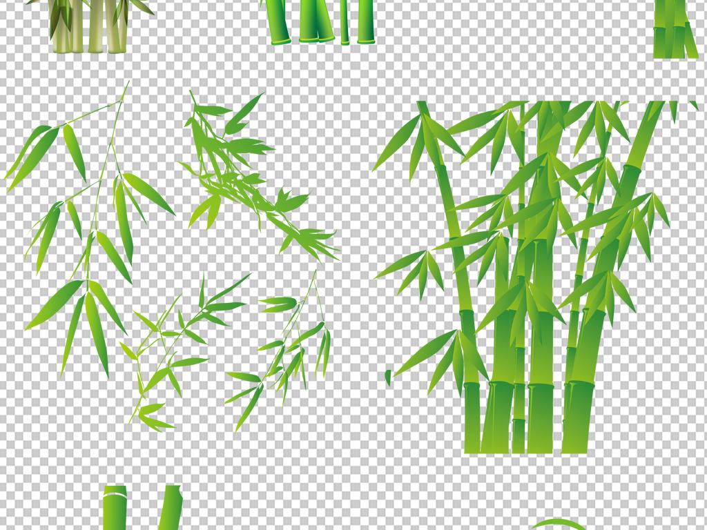 竹子高清照片手绘png