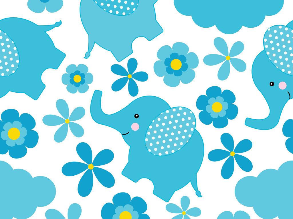 卡通小象象宝宝宠物幼儿园动物