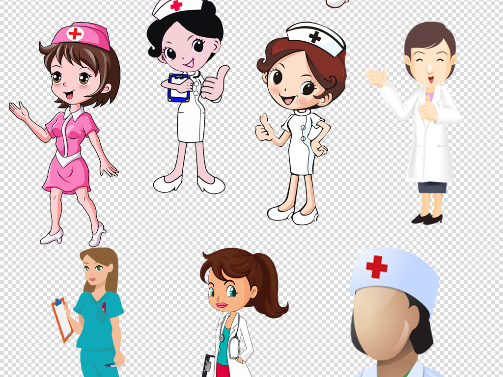 医生护士卡通人物免扣素材