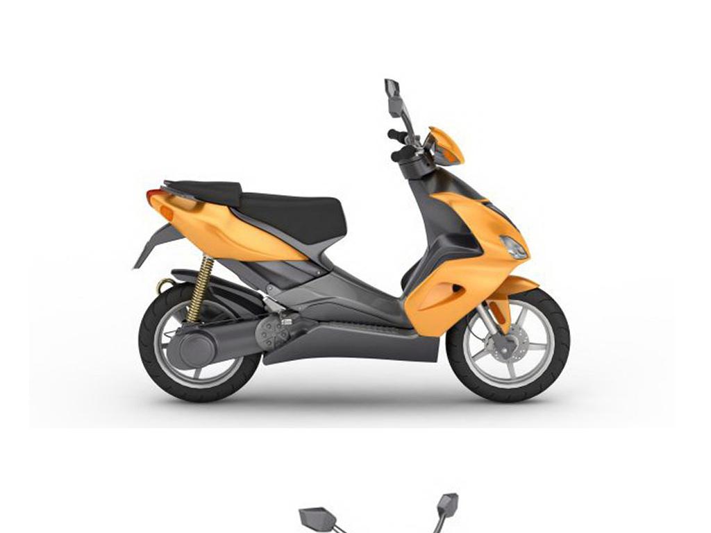 3d电动摩托车模型