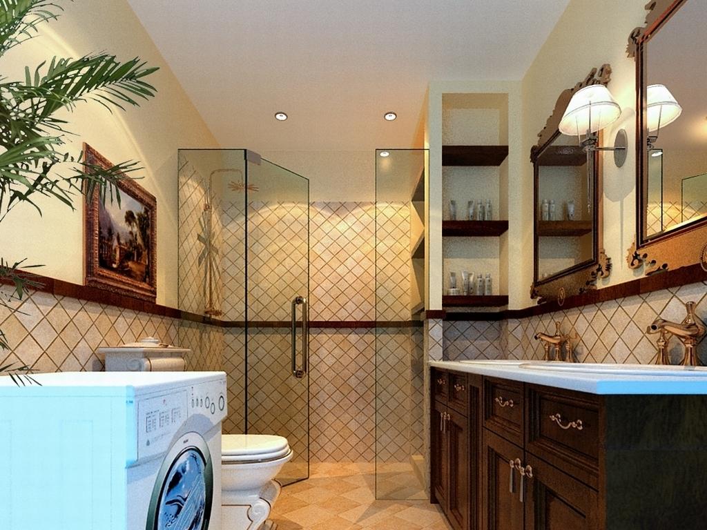 家庭时尚卫浴厕所1807设计图下载(图片13.75mb)_家居