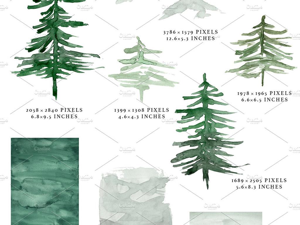 森系柳树手绘边框