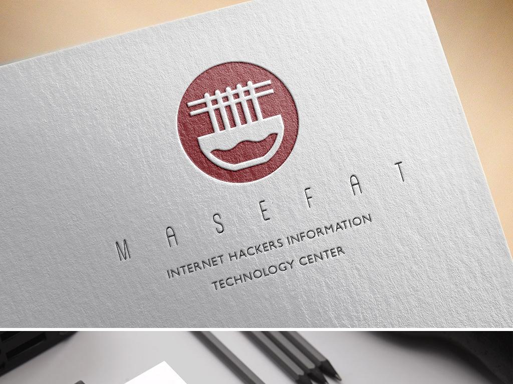 创意手绘面条面馆logo食物标志设计