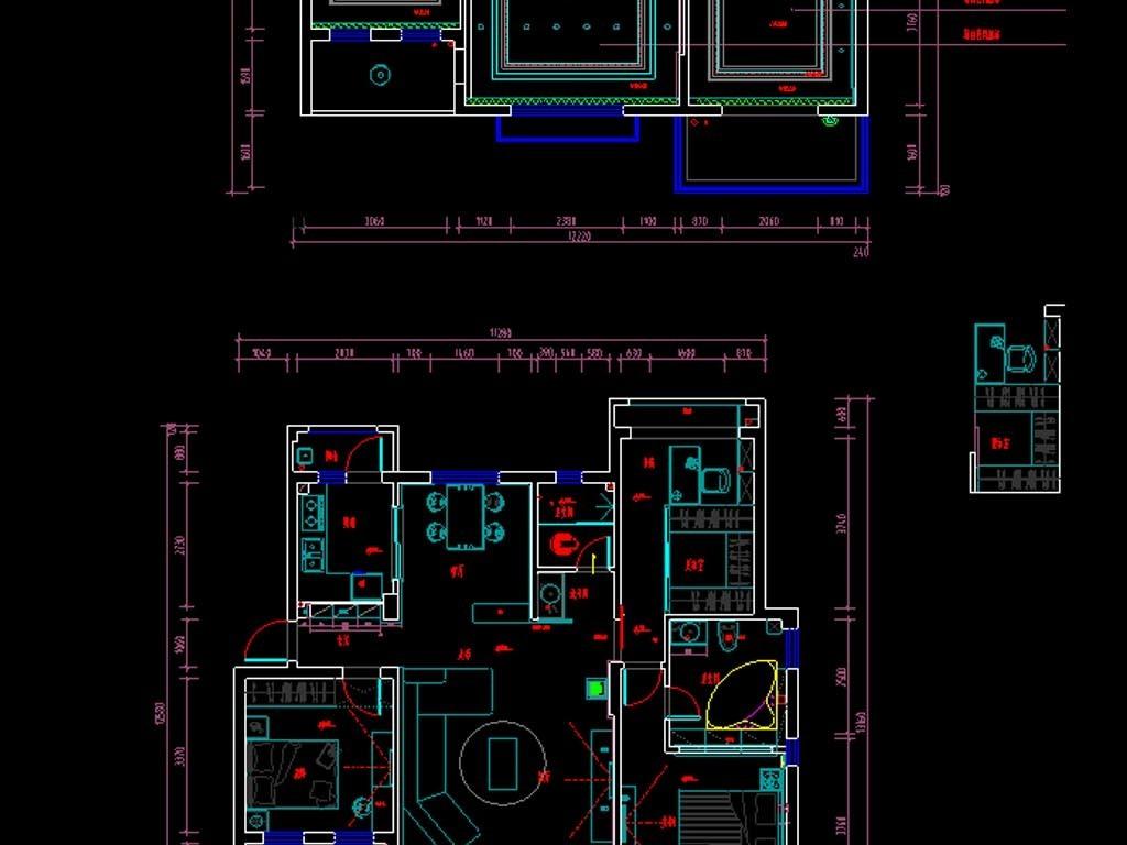 全套别墅家装CAD施工图
