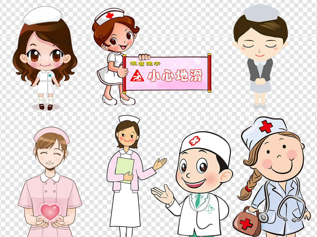 护士手绘人物形象