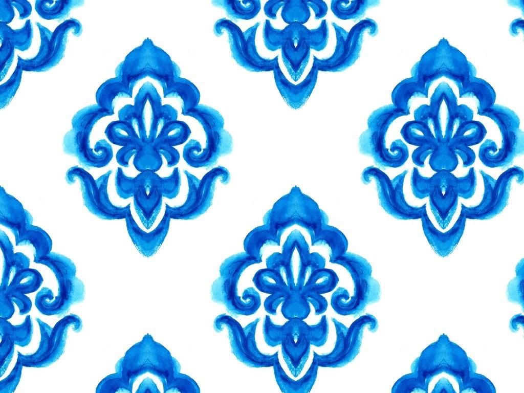 手绘蓝色欧式花纹青花瓷图片设计素材 高清模板下载 30.98MB 花纹图