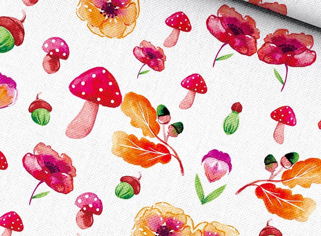 手绘植物花卉水果
