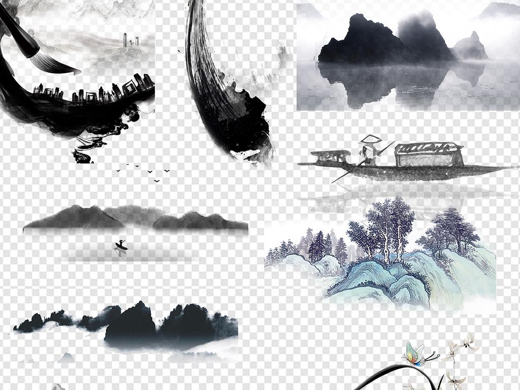 中国山水背景