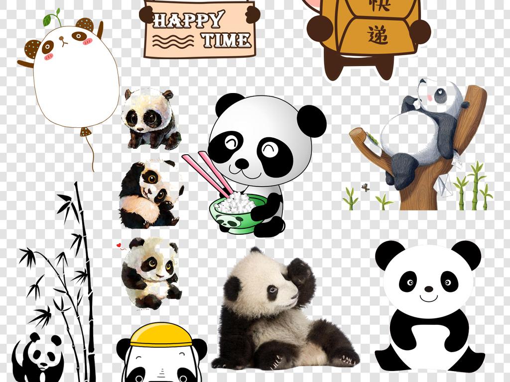 中国熊猫熊猫素材熊猫背景手绘熊猫熊猫表情包熊猫竹子熊猫可爱