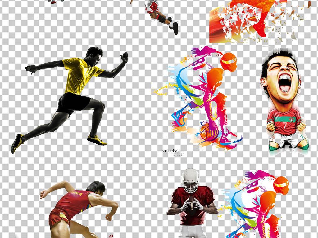 > 篮球足球nba运动员海报免扣透明素材  版权图片 设计师 : qq