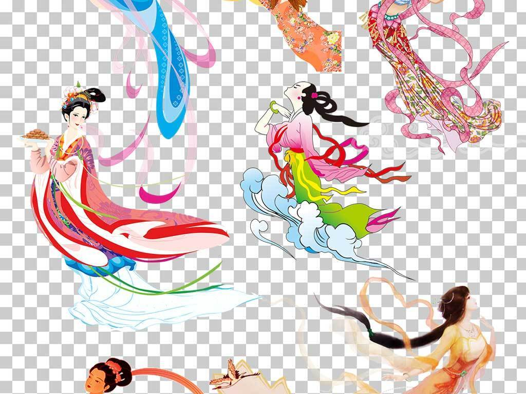 传统中国中秋嫦娥奔月玉兔素材合辑