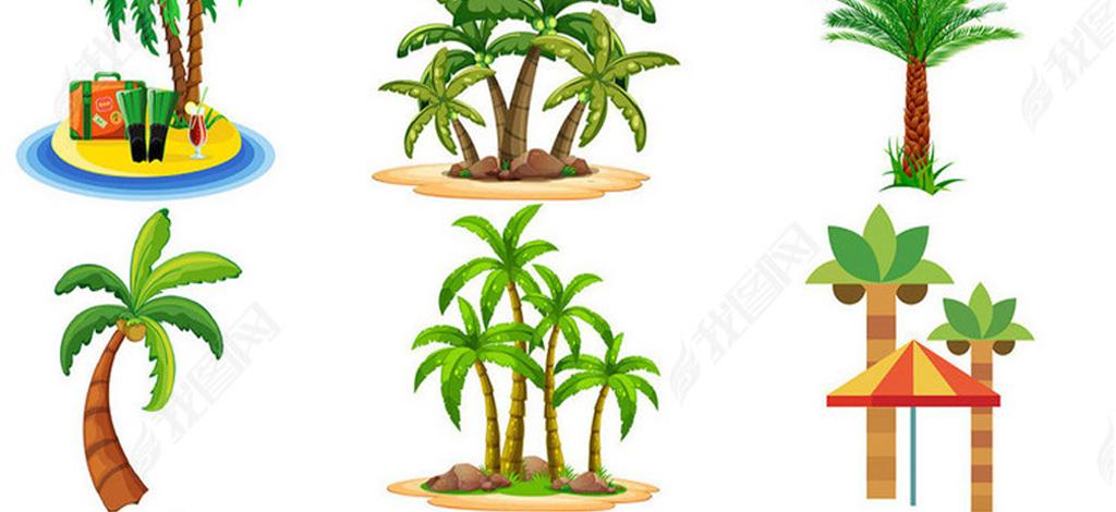 27款椰子树psd分层素材