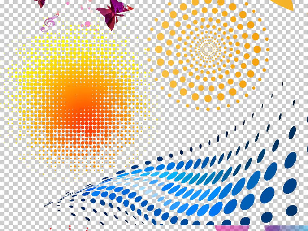 波点手绘图彩色