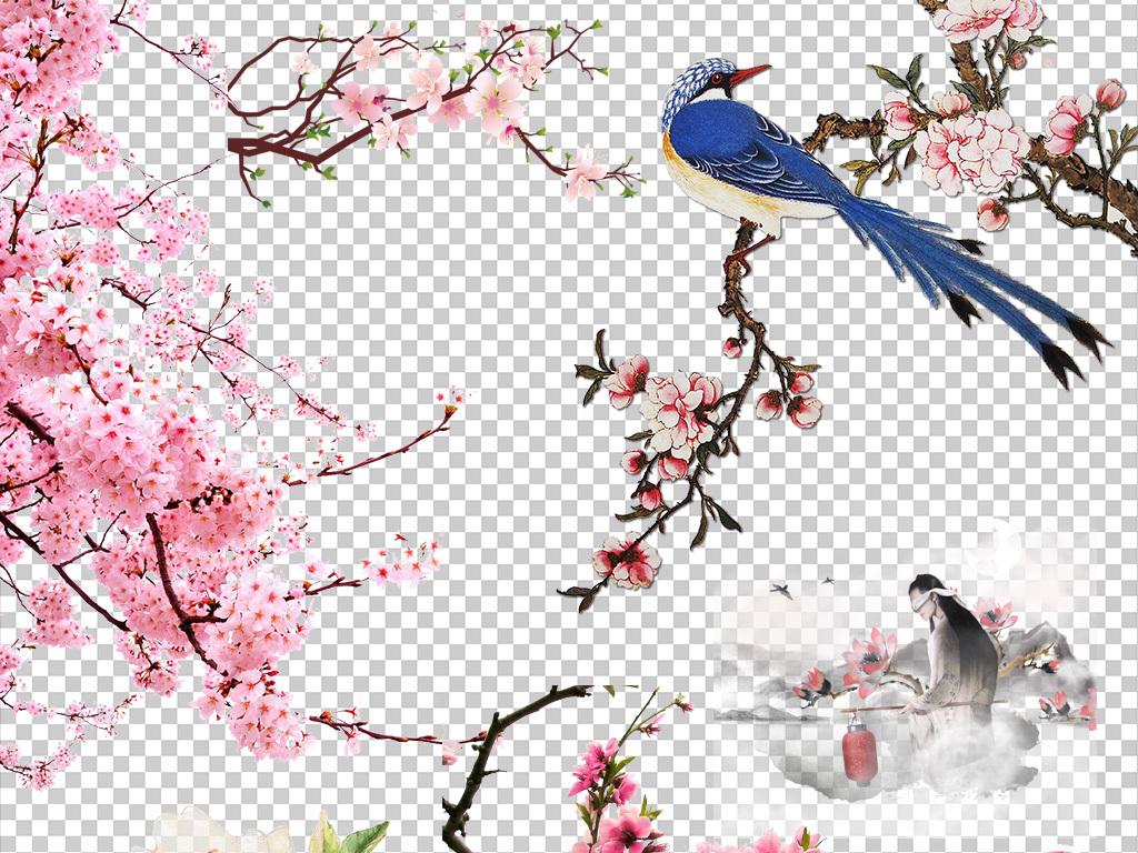 粉红色桃花梅花樱花花朵图片PNG素材图片下载png素材 花卉