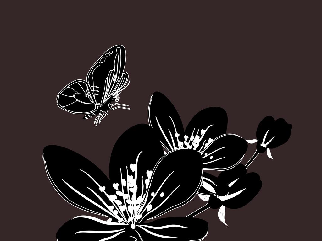 设计元素 自然素材 花卉 > 新款手绘花卉设计  版权图片 设计师