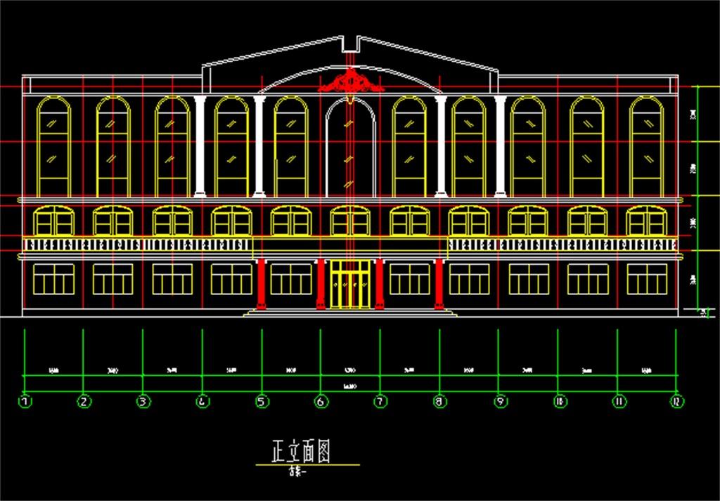 某学校办公楼cad方案图