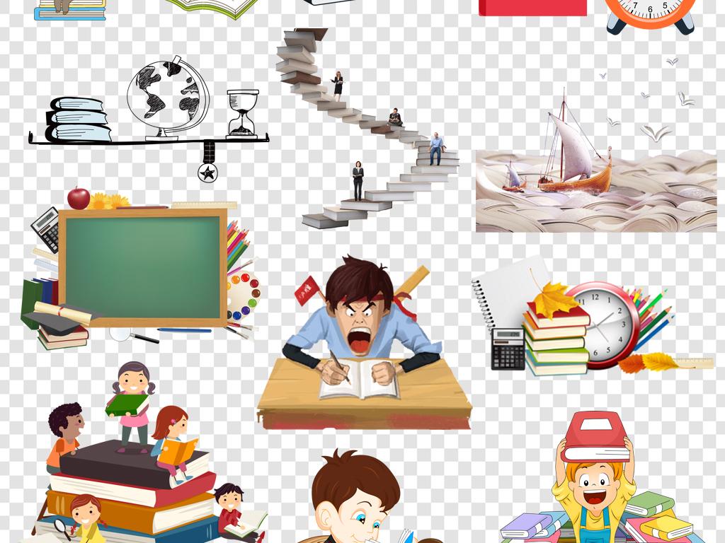 书本课本卡通背景卡通动物卡通房子卡通笑脸卡通小猴子卡通人物素描