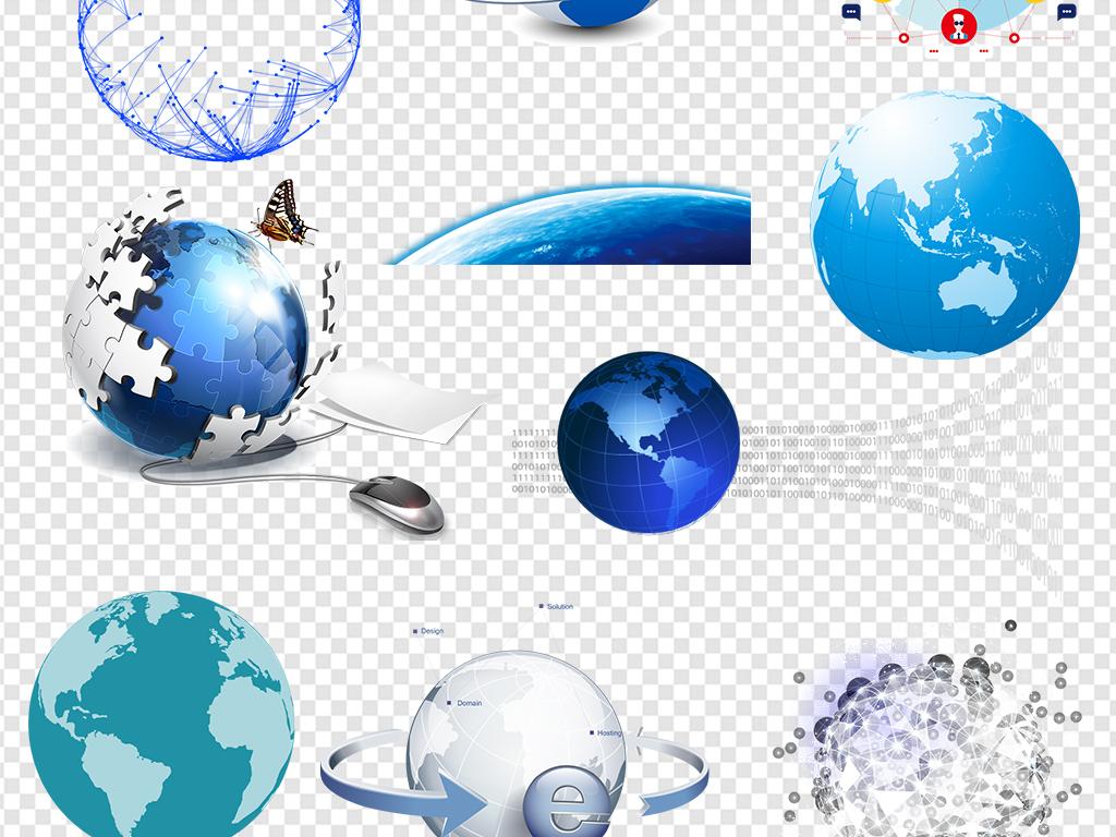 卡通地球手绘地球地球表面地球一小时地图创意地球科技