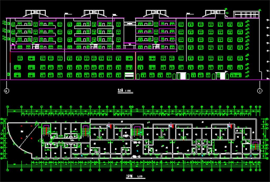 CAD综合大楼施工图图片下载dwg素材 建筑图纸