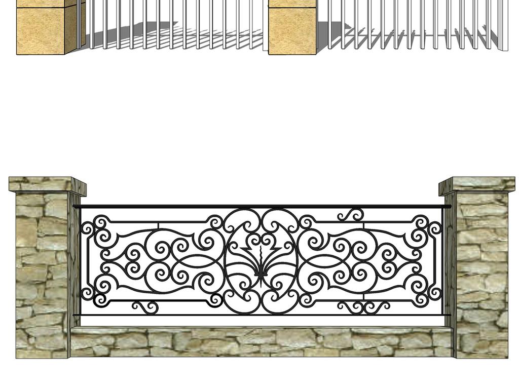 新中式北欧栏杆围墙合集图片